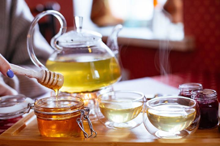Tofu With Honey and Green Tea